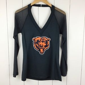 NFL All Sport Couture L Chicago Bears Top Sheer